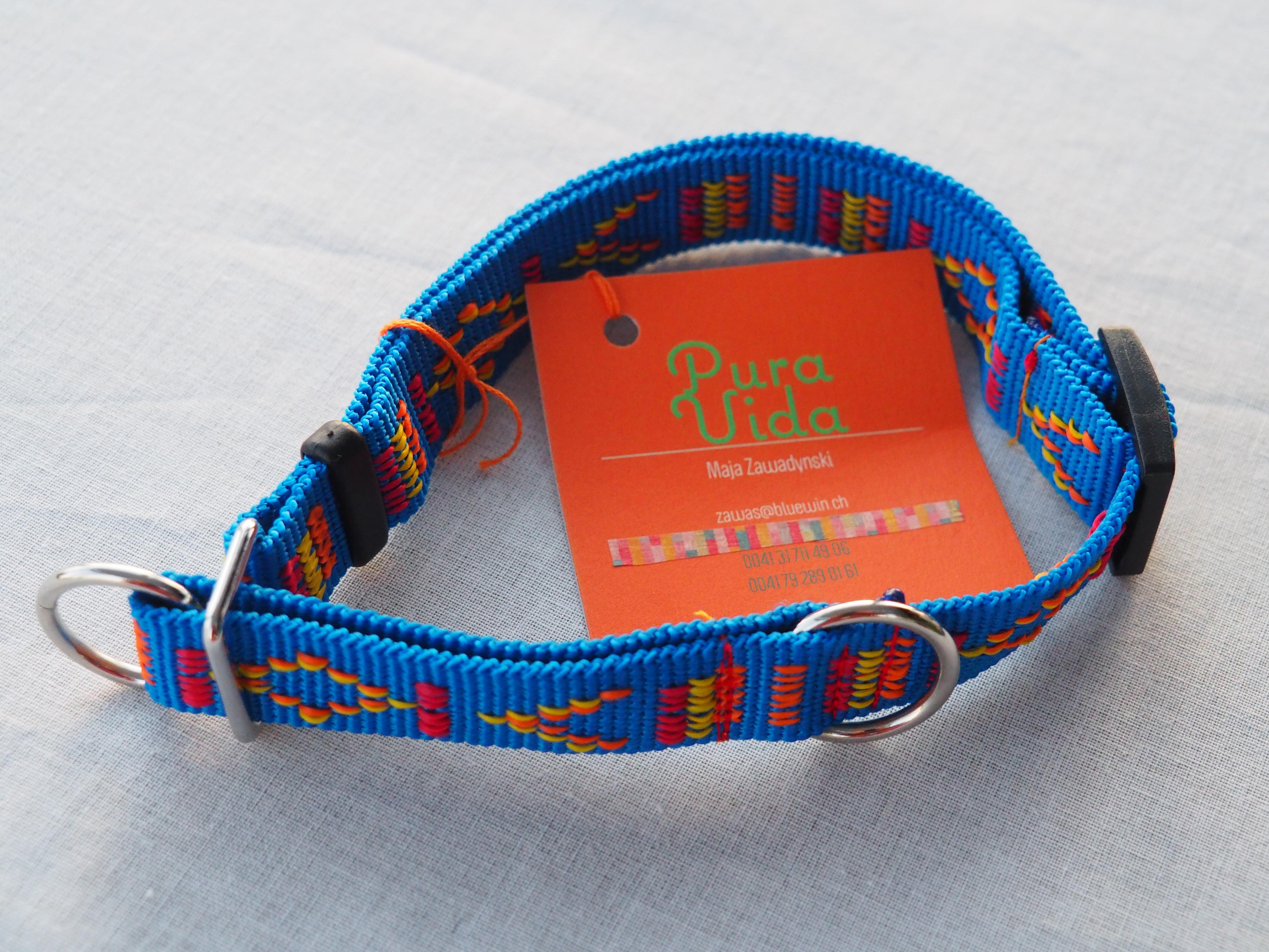 Halsband Sonntag blau